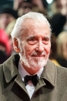 portrait photo of Christopher Lee