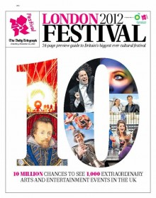 front cover of the london 2012 festival programme